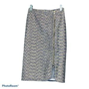 J.Crew Skirt Metallic Plum E1247 Pencil 000 $148